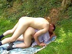 Итальянский Блондинка Пожилые Plumper открытый грубый секс