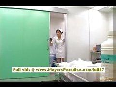 A Rio Hot asiatica si infermiera ottiene nudo e giocare a