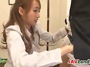 Skinny Japanese Girl Has Fun In The Office