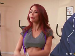 Monique Alexander Sucks and Fucks in a Gym