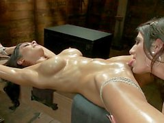Bound and Horny Brenda Von Tease Dominates Beretta James