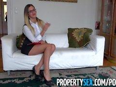 PropertySex - Длинноногая венгерского агент по продаже недвижимости трахает британская клиент