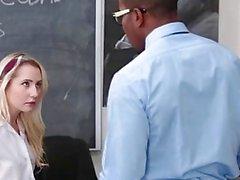 InnocentHigh Tiny Blonde Student Fucks BBC Teacher