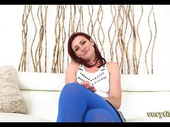 Redhead Amateur on the casting couch
