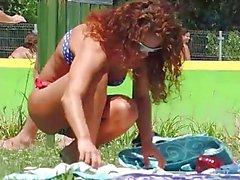 Sexy Hot Beach Bikini Babes Tanning HD Voyeur Video