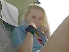 blondie girl bates in the bus
