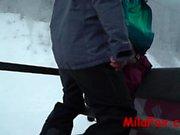 telesiyejin de ağızda Anal krem pai. eşek ağız için! Bir snowboard !