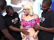 Jenna Ivory Serves A Gang Of Black Men With Her Body