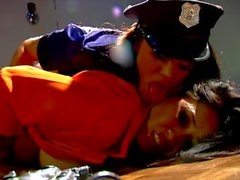 Asian babe Jessica Bangkok in steamy lesbian scene with Alyssa Reece