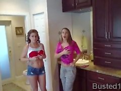 Lucky stud fucks his stunning wife and the hot babysitter