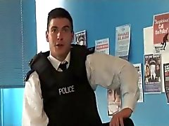 Horny english cop loves toys
