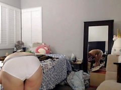 Anal Sex Hot masturber blond à la webcam avec gode