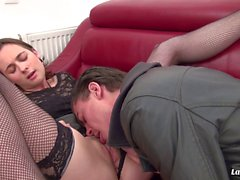 La Novice - French babe Silvia gets her pussy and ass hole drilled hard