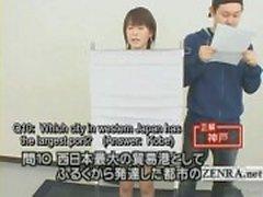 Subtitled Japan quiz show med en naken tävlande