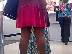 De Nega de vestido electrónico Calcinha socada na de Fila hacerlo del Banco