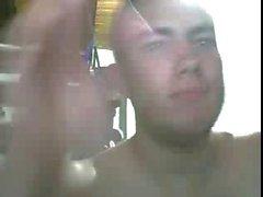 Geradeaus Jungs Fuß vor der Webcam # 504