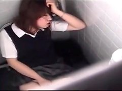 Hidden camera Japanese masturbation scene