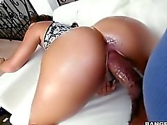Teanna Trump took his enormous black cobra in her tight crack