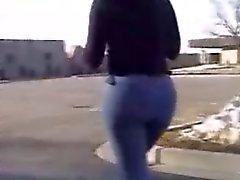 sexy de jeans ass noire