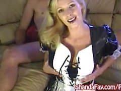 Canadian Maid Shanda Fay Services her Client with a BJ!