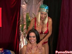 Hot Psychic Puma Swede fucks hennes Hoad Client!