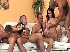 De Visconti a quente e excitada os tripletos merda bi- sexuais a ação fest !