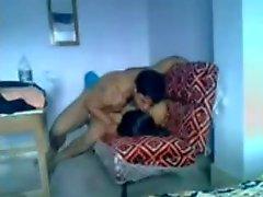Indian couple having some fun