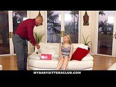 MyBabySittersClub - Pale Skinned BabySitter Punished by Homeowner