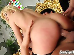 Acrobatic Lia gets ass fucked and double penetrated. The