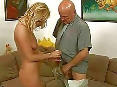 Grandpa loves young blonde
