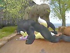 Werewolf attaccare Renamon tre