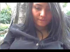 Colombian big tits girl in public park strip masturbation-erickdarkebadass