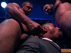 Threesome gay muscular com facial