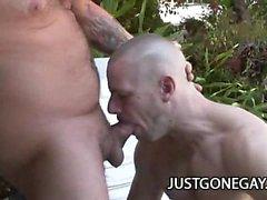 Parc Wiley - Fat Old Man Sex extérieure avec bassin Guy