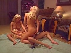 three girls with one dildo