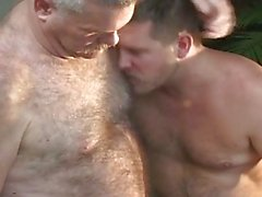 Three elder men have got hot gay orgy