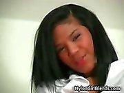 Cute ebony schoolgirl Emy in her school part3