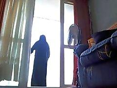 auf meinem Balkon bei Niqab