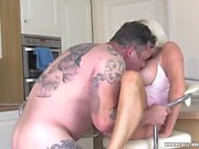 Blonde babe Michelle Thorne becomes a dirty housewife whore sucking fucking