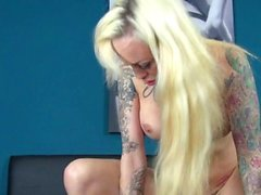Real German Userdate with blond tattoo hooker