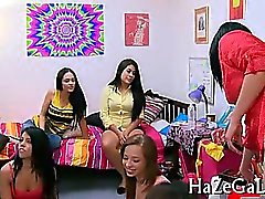 Lesbian lovely babes caressing on cam