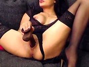 show masturbation en solo avec une pute brune mature
