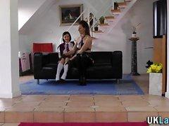 Stockings mature lesbian