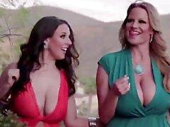 PORNFIDELITY Angela White y Kelly Madison se duchan en CUATRO Eyaculaciones!