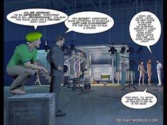 3D Homosexuell World Pictures lustige Cartoon- Anime Comic über das größten Homosexuell Filmstudio