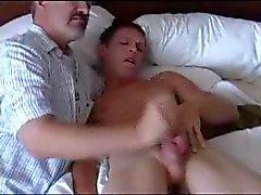 Sexshower och mjölk kåt sportfåne