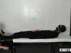 Hot mistress bondage with cumshot