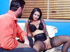 Brazzers - Katrina Jade deepthroats some cock