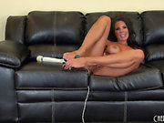 Hot Brunette Hair Sweetheart Tries Out Various Toys During A Solo Show