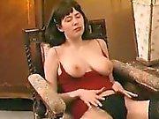 She is from cheat-meet - Hairy bitch masturbates